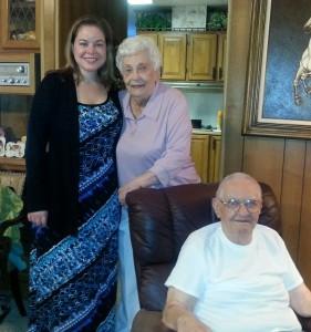 Aunt Dottie Uncle Bob with J